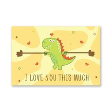 "зображення 1 - Листівка Papadesign ""I love you this much"" 10x15"