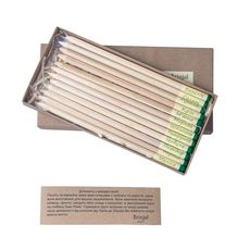 """зображення 1 - Набір олівців Brinjal """"Eco Stick"""" кольорові 12шт"""