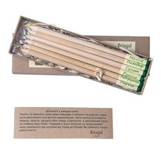 """Набор карандашей Brinjal """"Eco Stick"""" цветные 6 шт, фото 1"""