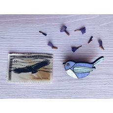 фото 1 - Брошка Пташка