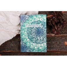 """фото 1 - Обложка на паспорт """"Голубой лотос"""""""