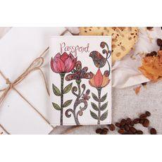 """фото 1 - Обложка на паспорт """"Три цветка"""""""
