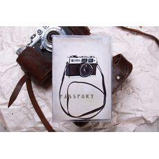 """фото 1 - Обложка на паспорт """"Фотоапарат"""" пластик"""