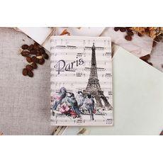 """фото 1 - Обложка на паспорт """"Париж и ноты"""" эко-кожа"""