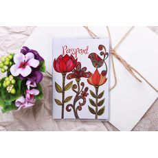 "Обложка на паспорт ""Три цветка"" пластик, фото 1"