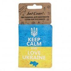 "фото 1 - Обложка на ID-паспорт Just cover ""Keep Calm and love Ukraine"" 7,5 х 9,5 см"