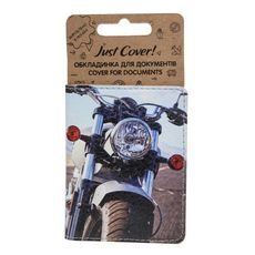 "зображення 1 - Обкладинка на ID-паспорт Just cover ""Мотоцикл"" 7,5 х 9,5 см"