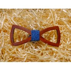 """зображення 1 - Дерев'яний метелик """"Класика, різьблений, синій з візерунком"""""""