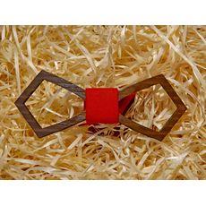 """зображення 1 - Дерев'яний метелик """"Ретро різьблений, червоний однотонний"""""""