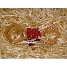 """зображення 1 - Дерев'яний метелик """"Ретро різьблений, бордова з зірками"""""""