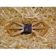 """зображення 1 - Дерев'яний метелик """"Ретро різьблений, темно-синій квітковий принт"""""""