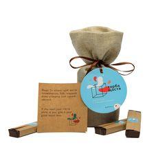 """Шоколад с предсказанием Happy bag """"Мешок счастья"""" черный шоколад, фото 1"""