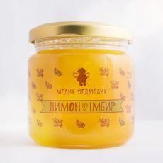 "Мед ""Имбирь + лимон"" 250г, фото 1"