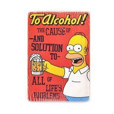 зображення 1 - Постер The Simpsons #2 To Alcohol (red) Wood Posters 200 мм 285 мм 8 мм