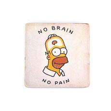 зображення 1 - Постер The Simpsons #12 No Brain Wood Posters 200 мм 200 мм 8 мм