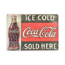 фото 1 - pvb0027 Постер Coca Cola #1 Wood posters 200 мм 285 мм 8 мм