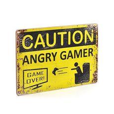 "зображення 1 - Постер ""Caution Angry Gamer"""