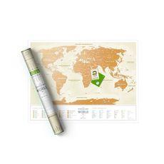 "Скретч-карта 1DEA.me ""Travel map Gold world"" ukr, фото 1"