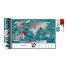 "зображення 1 - Скретч-карта 1DEA.me ""Marine world"" eng (60*40см)"
