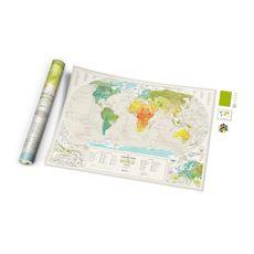 "фото 1 - Скретч-карта 1DEA.me ""Geography world"" eng (88*60см)"