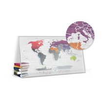 """зображення 1 - Скретч-карта 1DEA.me """"Travel map Air world"""" eng (80*60см)"""