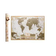 зображення 1 - найдокладніша скретч карта світу в античному стилі Набір Antique Caribbean 88х60
