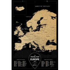 "Скретч-карта 1DEA.me ""Travel map Black Europe"" ukr, фото 1"