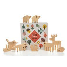 """Деревянная игрушка lislis """"Лесные звери"""" подарочный набор, фото 1"""