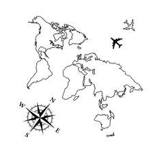 """фото 1 - Тату временное Arley Sign """"Карта мира"""""""