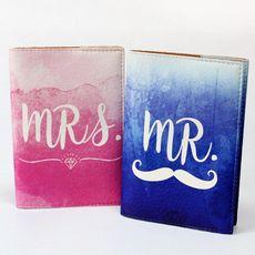 """фото 1 - Набор обложек на паспорт Just cover """"Mr&Mrs"""" 13,5 х 9,5 см"""