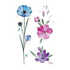 """фото 1 - Тату временное Arley Sign """"Весенние цветы"""""""