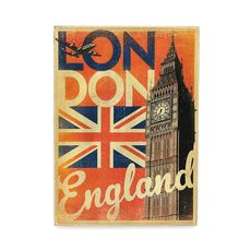 "Постер Wood Posters ""Lon don England"" 200х285х8 мм, фото 1"