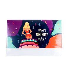 "фото 1 - Открытка для денег Papadesign""Happy birthday man!"" 18x9"