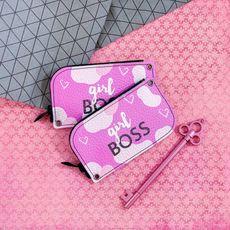 """зображення 1 - Ключниця Papadesign """"Girl Boss"""" кожа 13*7 см"""