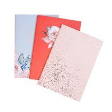 """фото 1 - Набір зошитів А6 """"Floral"""" (в лінію, клітку,крапку)JHN0056"""