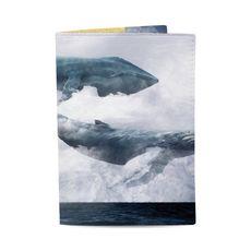 """фото 1 - Обложка на паспорт Just cover """"Киты"""" 13,5 х 9,5 см"""