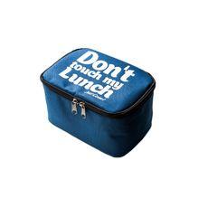 "фото 1 - Ланч-бэг Just cover ""Don't touch my lunch"" синий 195 х 125 х 125 мм"