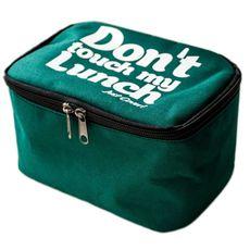 "фото 1 - Ланч-бэг Just cover ""Dont touch my lunch"" зеленый 195 х 125 х 125 мм"