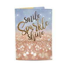 "зображення 1 - Обкладинка на паспорт Just cover ""Smile, Sparkle, Shine"" 13,5 х 9,5 см"