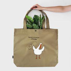 "фото 1 - Эко сумка Gifty ""Берегите природу, мать вашу"" L бежевая"