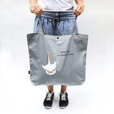 """фото 1 - Эко сумка Gifty """"Береги свой внутренний дзен"""" L голубая"""