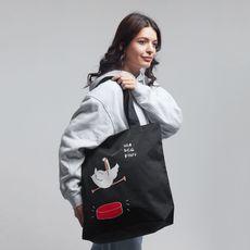 """фото 1 - Еко сумка Gifty """"Ща всьо рішу"""" L чорная"""