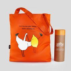 """фото 1 - Еко сумка Gifty """"Лімончелло"""" L оронжевая"""