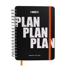 """фото 1 - Big planner """"Plan Plan Plan"""" black"""