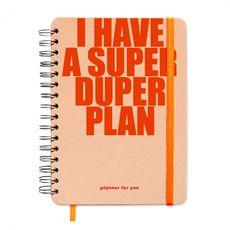 "фото 1 - Big planner ""I HAVE A SUPER DUPER PLAN"" peachy"