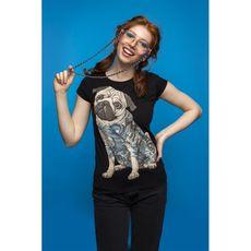 фото 1 - Футболка Tattoo Pug Black Female 2307
