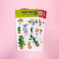"""фото 1 - Стикерпак """"Plants"""""""
