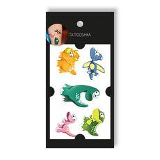 """зображення 1 - Тату Tattooshka"""" Ніжні динозаврики"""""""