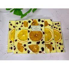 "фото 1 - Шоколад Laviva Chocolates  ""Апельсин"" белый 27%, 100г"