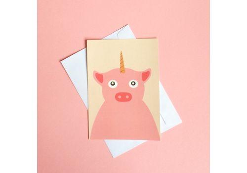 фото 1 - Листівка зі свинею